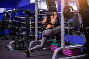 The woman has a regular leg workout.