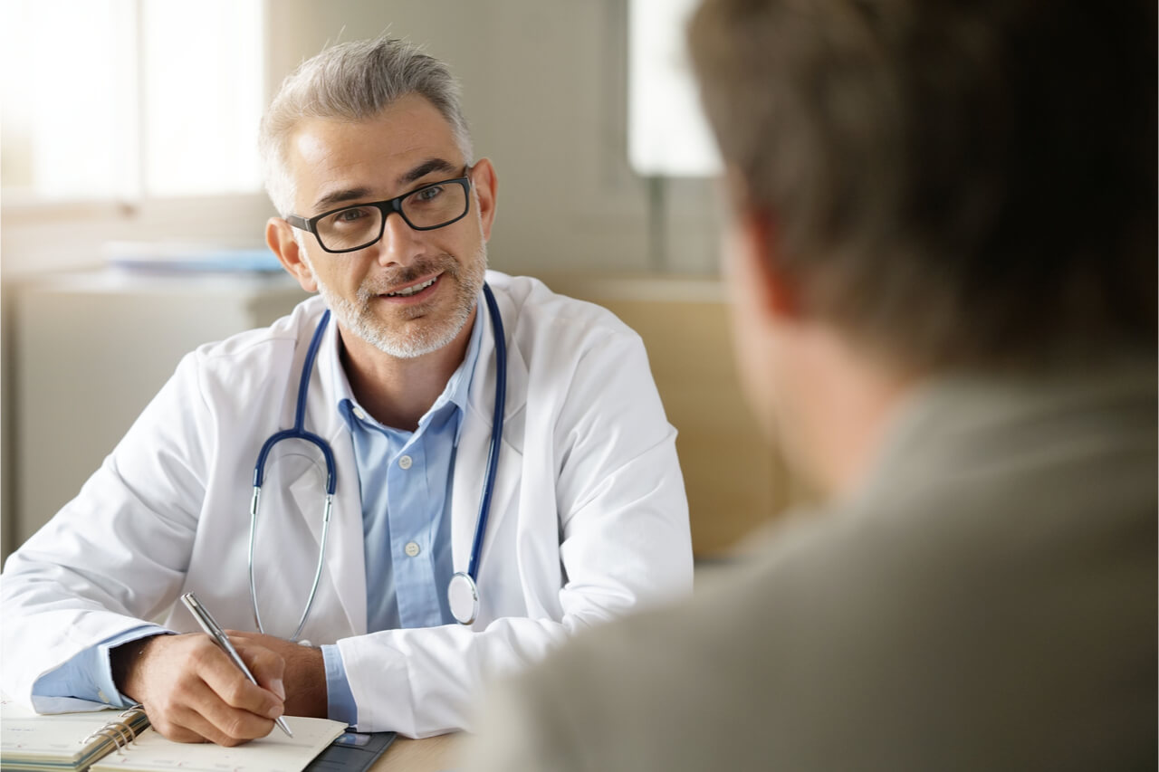 The patient visits a doctor for a consultation.